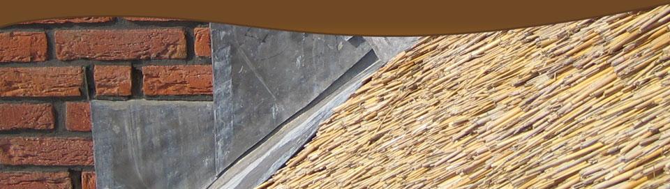 Het gebruik van lood op een rieten dak