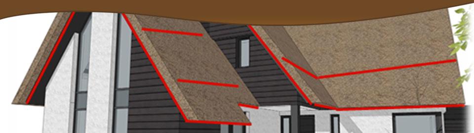 Branddetectie voor het rieten dak