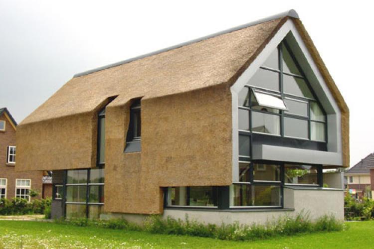 Verticaal riet vakfederatie rietdekkers for Home design zoetermeer
